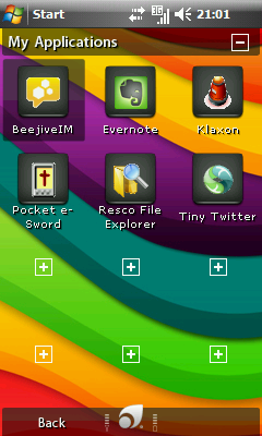 Favorite Apps Screen